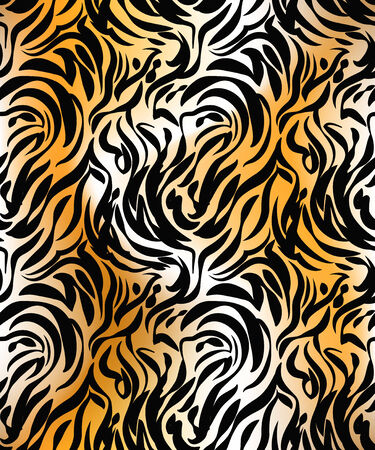 Abstract  tiger seamless pattern Vector