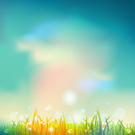 Summer time background Illustration