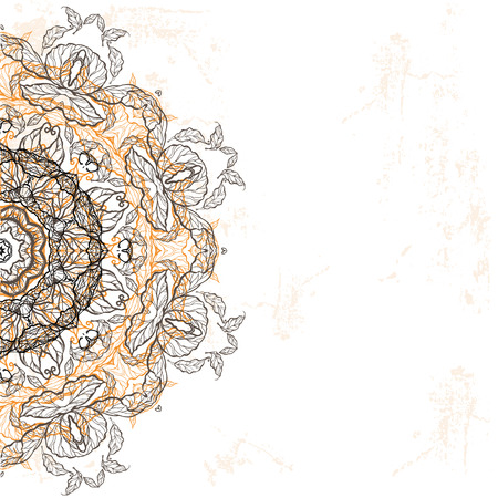 Background with ethnic ornament. Raster version Vector
