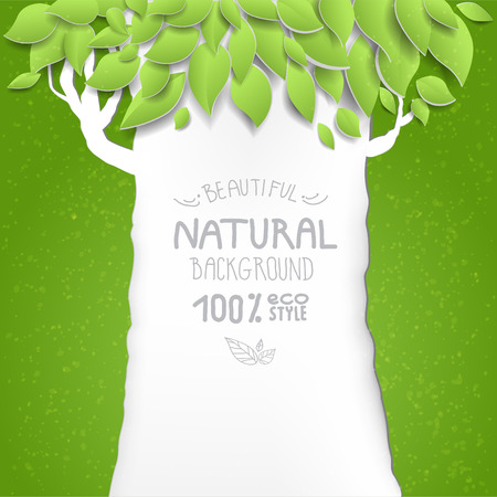 branch cut: Background with tree. Eco style. Place for text.