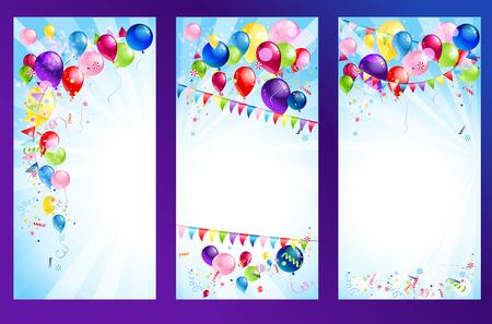 Vakantie banners. Roosterversie Stock Illustratie