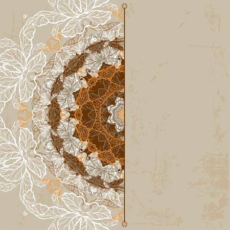Ornamental vintage background. Raster version Vector