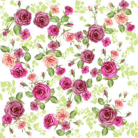 Spring floral repeating pattern Vector