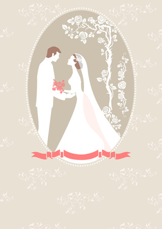 Wedding card with copy space. Vector