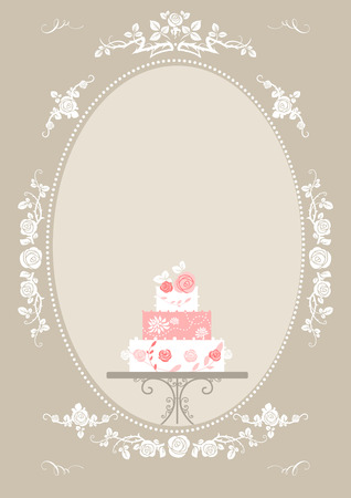 wedding reception decoration: Wedding invitation card.