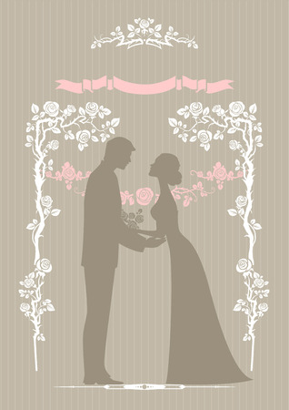 Wedding invitation card. Vector