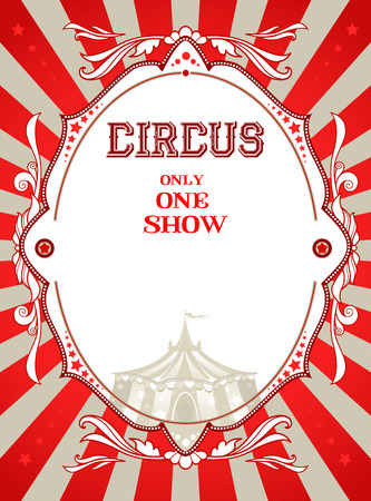 manege: Vintage circus poster with place for text