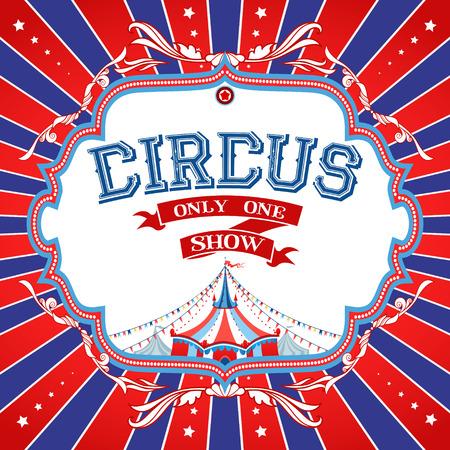 Manifesto del circo luminoso con posto per il testo Archivio Fotografico - 31998646