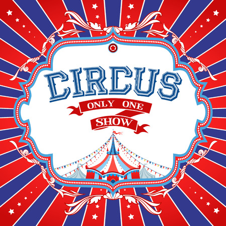 Bright circus poster with place for text Illustration