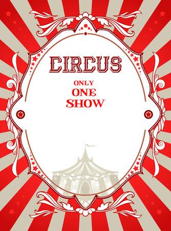 locandina arte: Manifesto del circo dell'annata con il posto per il testo