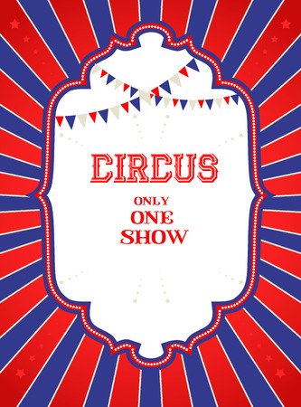Vintage circus poster with place for text Vector