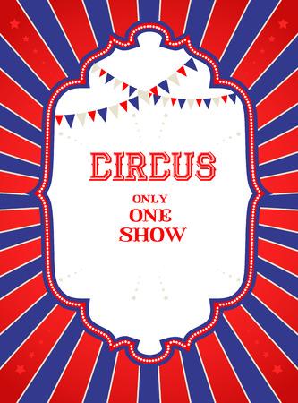 Vintages Zirkus-Plakat mit Platz für Text