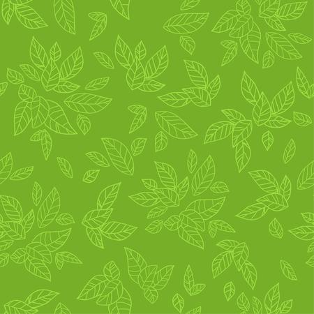 Groene naadloze patroon. Eco achtergrond Stock Illustratie