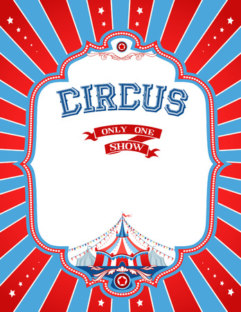 Bright circus poster with place for text Çizim