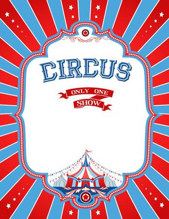 Poster do circo brilhante com lugar para o texto