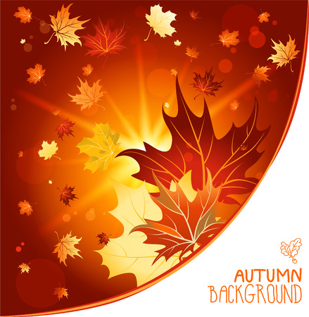 Autumn decorative background with place for text