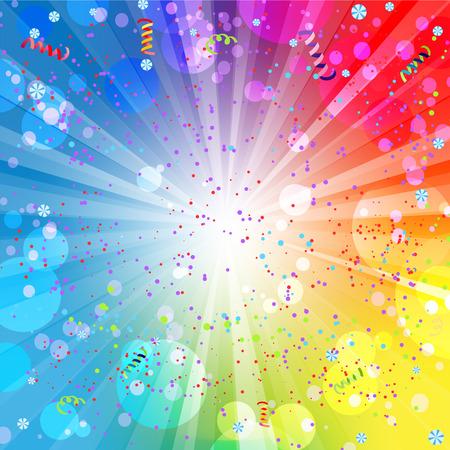 kutlamalar: Metin için yer ile festival renkli arka plan Çizim
