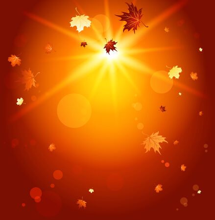 Fall simple background with place for text. Raster version Vector