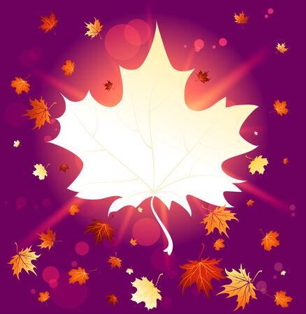 hintergrund herbst: Wunderbare Herbst Hintergrund mit Kopie Raum. Raster-Version. Illustration