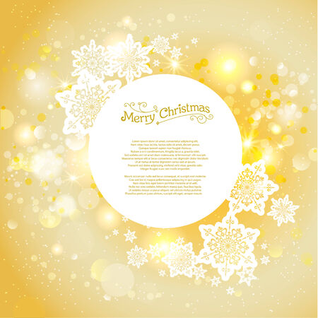 festivity: Golden christmas backdrop with copy space Illustration