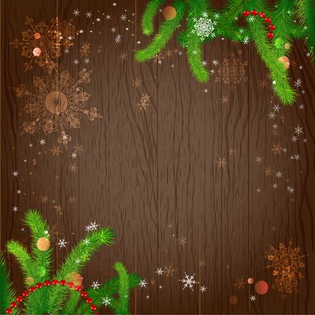 december holidays: Holiday background with christmas tree. Vector design with copy space.
