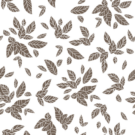 sillhouette: Sillhouette of  leaves. Seamless vector pattern