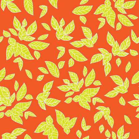 Summer leaves. Bright seamless pattern Vector