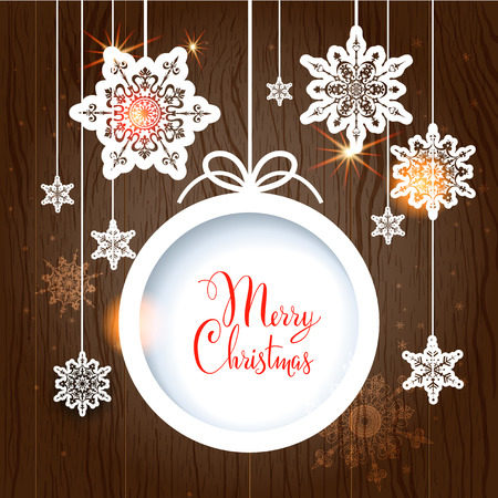 festive background: Festive Christmas background and sphere with copy space. Illustration