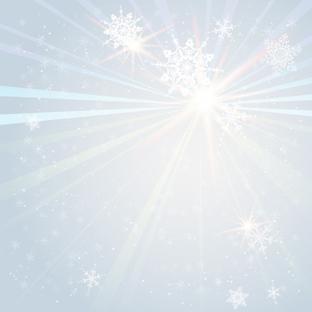 winter holiday: Winter holiday snowflakes on Christmas background with copy space. Illustration