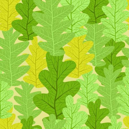 seamless pattern: Summer leaves seamless pattern.