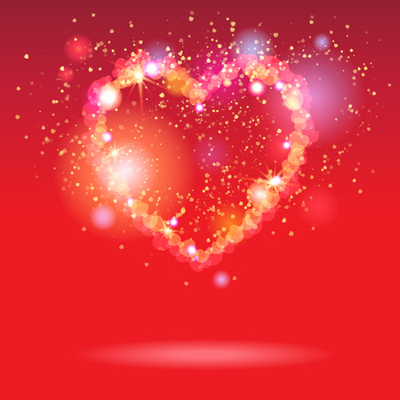 opportunity concept: Red holiday background with heart. Valentines day symbol.