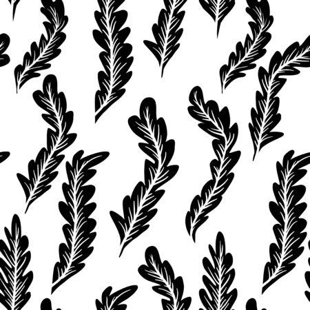 seamless pattern: Abstract feathers seamless pattern. Illustration