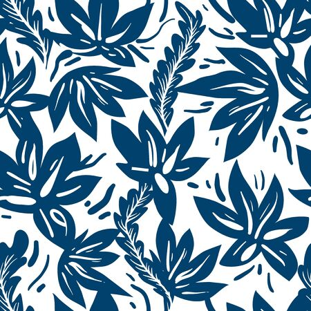 Ornamental ethnic floral seamless pattern