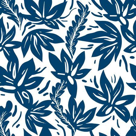 Ornamental ethnic floral seamless pattern
