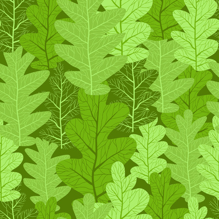 repeating: Green leaves repeating background. Seamless pattern. Illustration