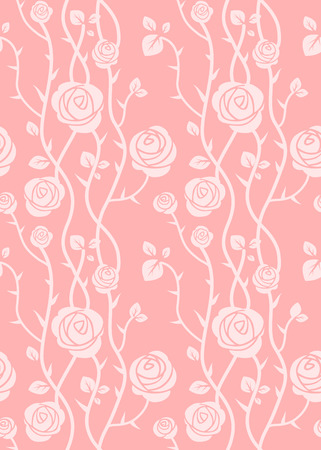 pastel color: Floral seamless pattern. Pink pastel color. Simple natural background
