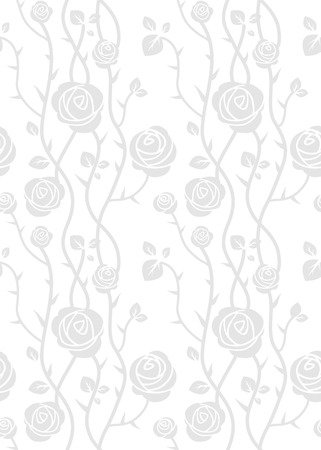 seamless pattern floral: Roses seamless pattern. Floral vector background. Illustration