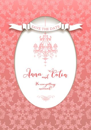 wedding reception decoration: Elegant wedding design for  leaflet, cards, invitation and so on. Place for text.