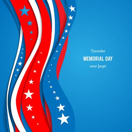 Vagues abstraites bleu et rouge sur fond bleu. Patriotique fond de vacances. Vacances carte patriotique pour jour de l'indépendance, jour du souvenir, jour de vétérans, jour de présidents et ainsi de suite. Banque d'images - 41426239