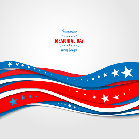 Bleu et vagues abstraites rouges. Patriotique fond de vacances. Vacances carte patriotique pour jour de l'indépendance, jour du souvenir, jour de vétérans, jour de présidents et ainsi de suite. Illustration