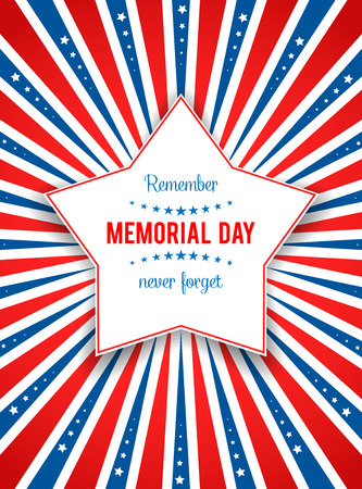 Holiday background with star. Place for text.Holiday patriotic card for Independence day, Memorial day, Veterans day, Presidents day and so on.