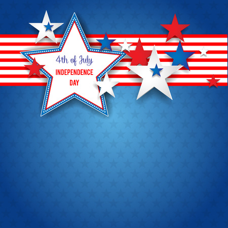 shaddow: Independence day abstract background with stars and place for text. Illustration