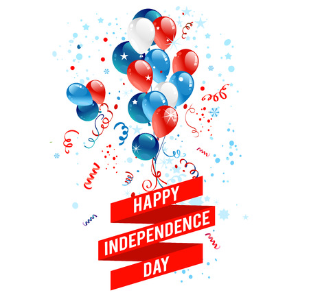 July fourth balloons. Holiday national design for advertising, leaflet, cards, invitation and so on.