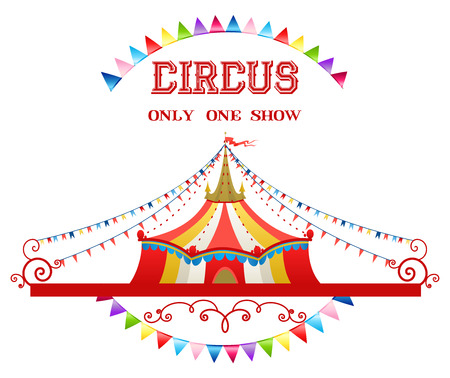 entertainment tent: Circus tent isolated on white background