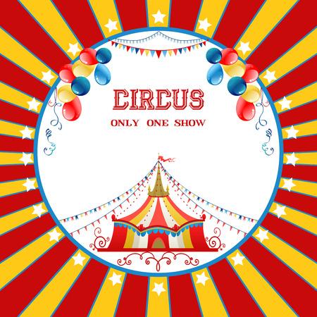 circo: Cartel del circo con los globos