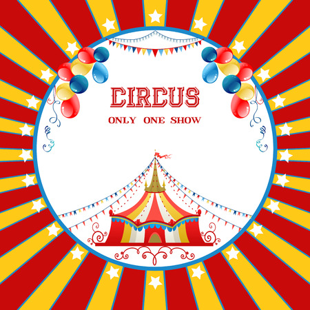 Circus poster with balloons