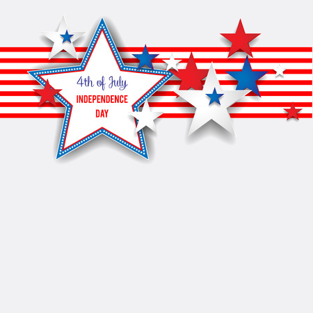 Independence day background with stars Vectores