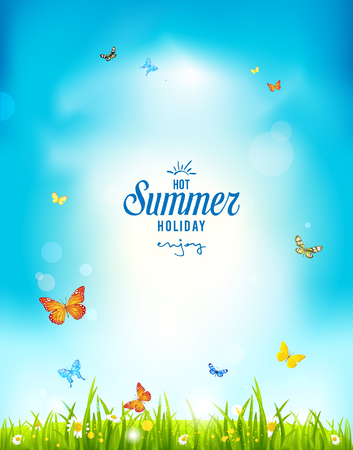 the positive: Summer holiday positive background for advertising, leaflet, cards, invitation and so on. Copy space.