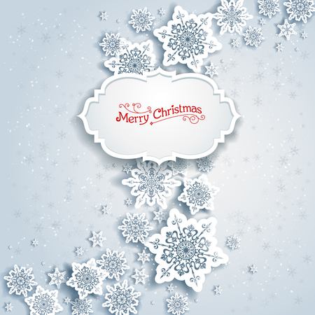 Background with Christmas decorations for banners, advertising, leaflet, cards, invitation and so on. Illustration