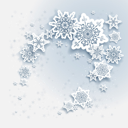 Snowflakes holiday Christmas background for banners, advertising, leaflet, cards, invitation and so on.